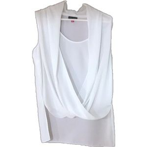 Vince Camuto Sheer White Blouse, Size M